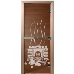 Банные двери со стеклом с...